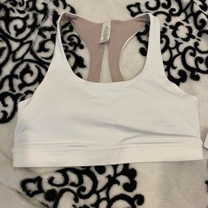 New lululemon white sports bra sz 8
